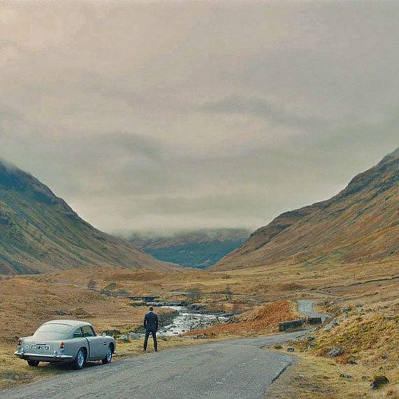 Scotland Skyfall Aston Martin Driving