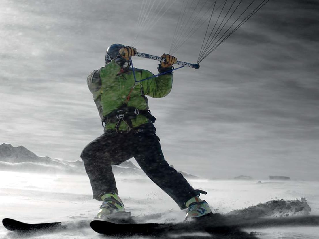 Kiteboarding Antarctica